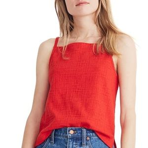 NWOT Madewell Red Apron Tank Top